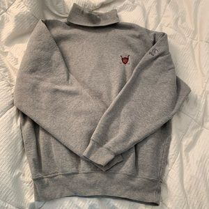 Gray Polo Turtleneck Sweatshirt